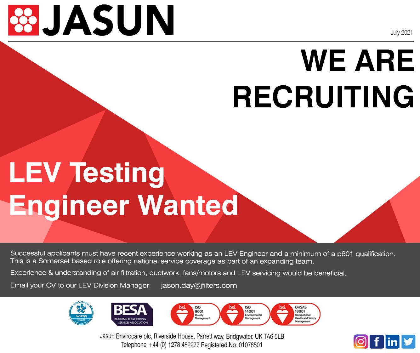 LEV Testing Engineer